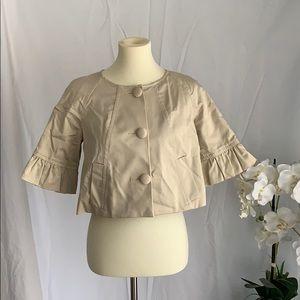 Tan cotton cropped blazer